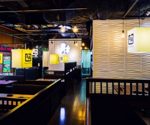 SaveEmail 3D Wall Panels in Gyu Kaku Restaurant Vietnam