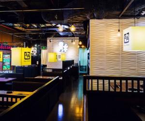 SaveEmail 3D Wall Panels in Gyu Kaku Restaurant Vietnam