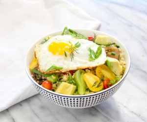 Savory Quinoa Breakfast Bowl Recipe