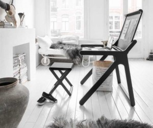 Scandinavian delights: desk and stool from Rafa-kids