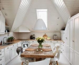Scandinavian Style Attic Design