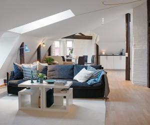 Scandinavian-style attic