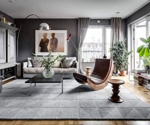 Scandinavian Style Meets Gray Panache Inside this Stockholm Apartment