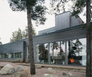 Scenic Landscape and Modern Aesthetics Shape Inspired Swedish Home