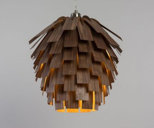 Scots Light Lamp by Tom Raffield