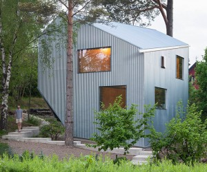 Sculptural and Affordable Prefab Home in Sweden