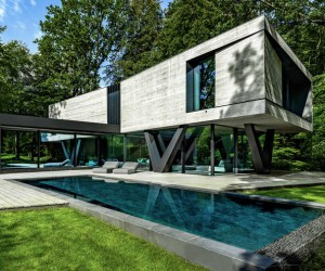 Sculptural Concrete Villa in Germany by Querkopf Architekten