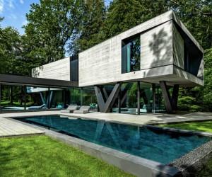 Sculptural Concrete Villa in Germany by Querkopf Architekten
