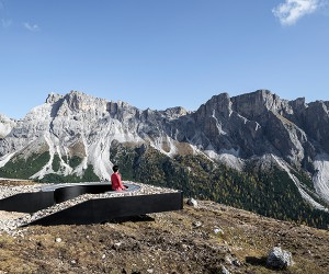 Sculptural Viewpoint In Dolomites  Messner Architects