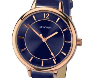 SEKONDA LADIES EDITIONS BLUE STRAP WATCH