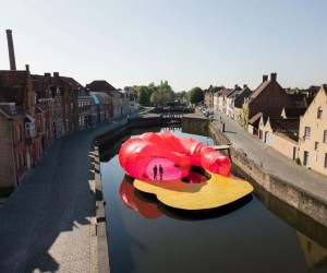SelgasCano Adds A Splash Of Color In Bruges With Floating Pavilion