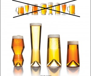 Sempli Monti Glassware Collection Designed For Beer