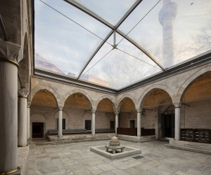 Sensible and Minimal Restoration: Black Glass Boxes Alter Istanbuls Oldest Library