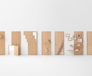 Seven door design by Nendo for Abe Kogyo