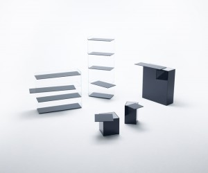 Shelves and Tables Collection by Nendo for Glas Italia