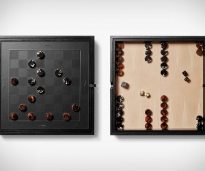 Shinola Backgammon  Checkers Set