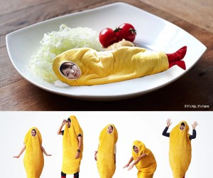 Shrimp Tempura Robe and Slippers  Sleeping Bag