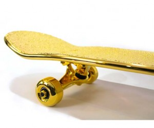 SHUT Releases 15,000 USD Gold Plated Skateboard