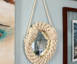 Simple DIY Rope Mirror