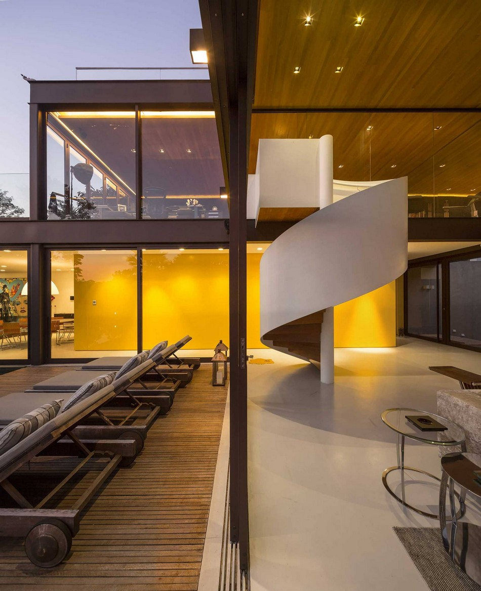 Simple geometry unveiling spectacular interiors limantos residence in so paulo