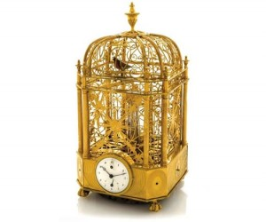 Singing Bird Cage Clock With Automaton by Jaquet Droz