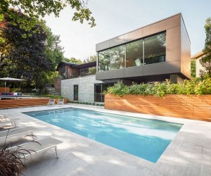 Single-Story Residence in Montreal Gets a Cantilevered Modern Extension