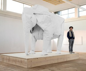 Sipho Mabona realized his Life-Size Elephant Origami