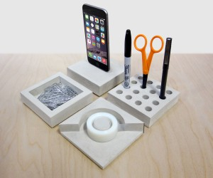 SLABS Concrete Desk Set