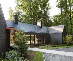 Slate House in a Maryland Forest by ZigerSnead