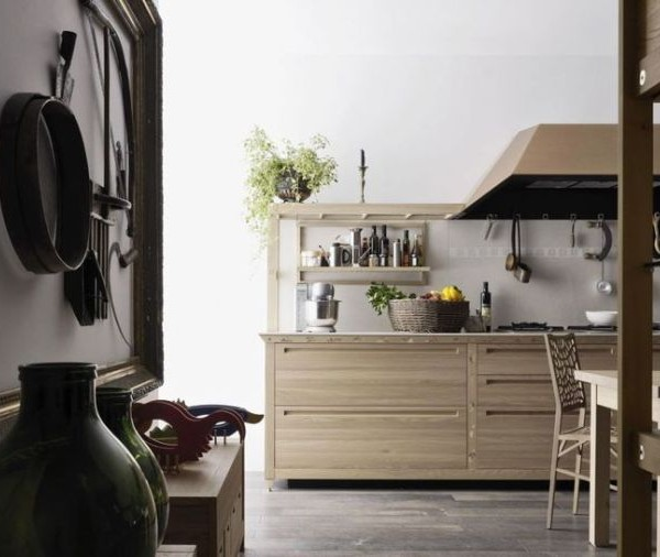 Sleek Kitchen Design: Sleek Kitchen Design With Wooden Inlays