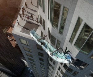 Slide Suspended 1000 feet above downtown L.A.