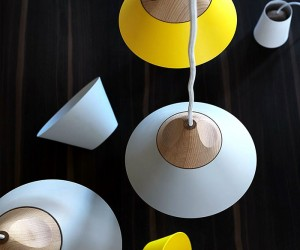 Slope Wooden Lamp by Skrivo Design