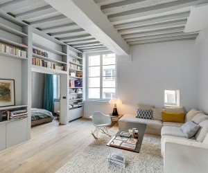 Small Apartment in Paris Gets a Chic, Space-Conscious Makeover