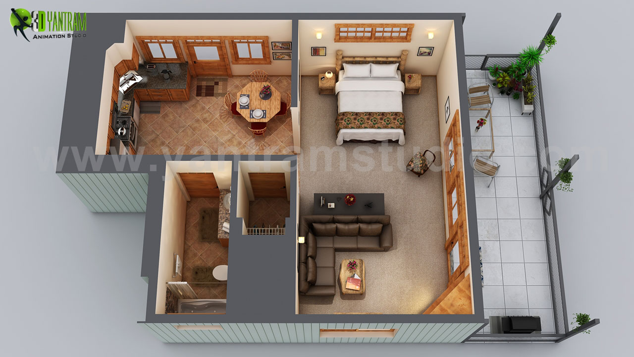 Small House Floor Plan Design Ideas By Yantram 3D Floor