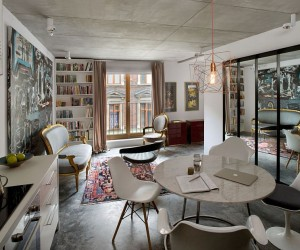 Small, Ingenious Apartment in Poland Draped in Eclectic Exuberance
