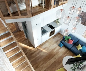 Small loft design by Ilya Derkach