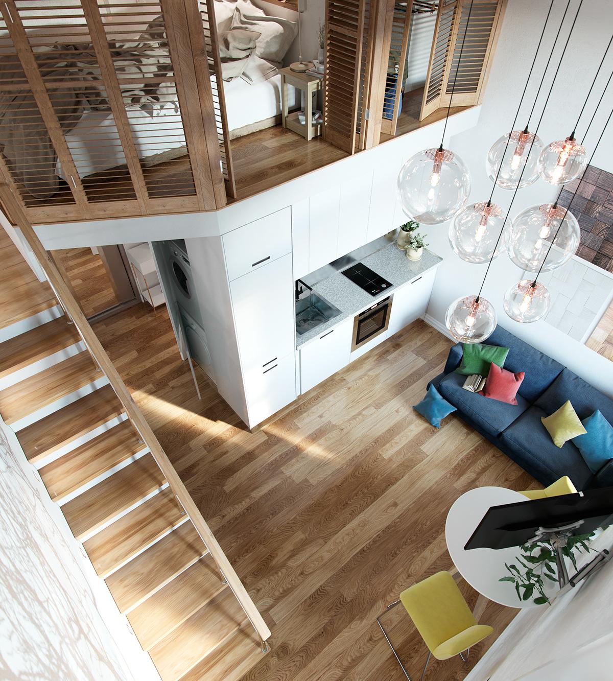 Small Loft Design Small Loft Design By Ilya Derkach