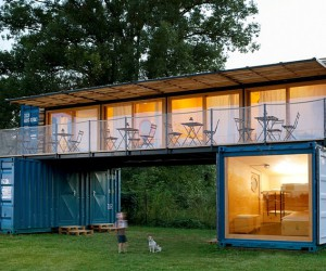 Small Mobile Hotel Made From Shipping Containers