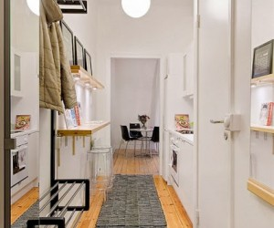 Smart design idea - kitchen fitted in the hallway