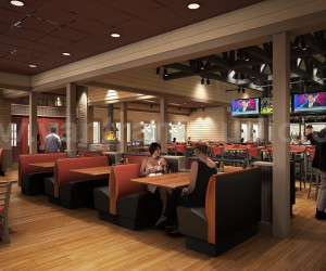 Smokey Bones Restaurant - Bar Renovation Design Rendering Ideas by Yantram interior design images Los Angeles, USA