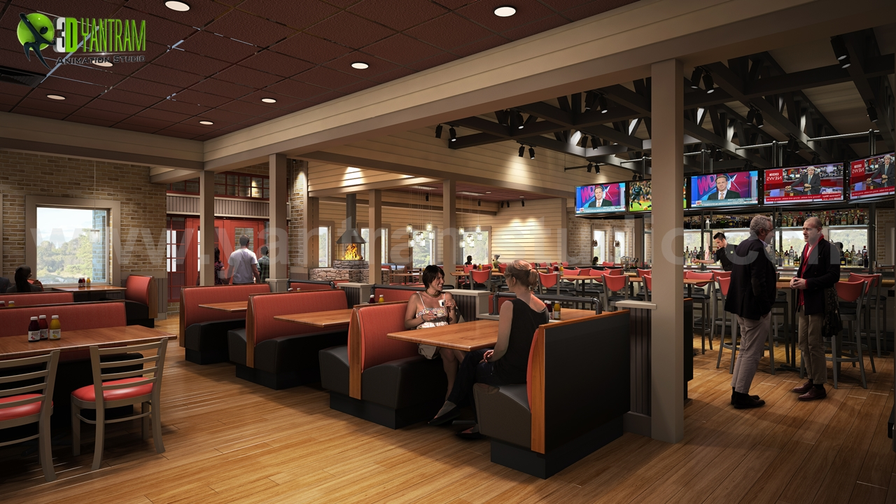 Charmant Smokey Bones Restaurant   Bar Renovation Design Rendering Ideas By Yantram  Interior Design Images Los Angeles, USA