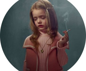Smoking Kids Portraits by Frieke Janssens