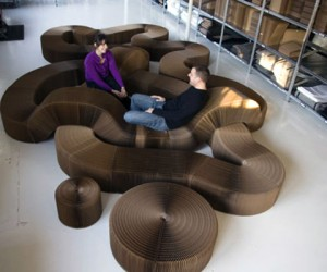 Softseating: Expandible Kraft Paper Seating