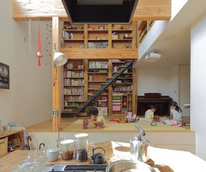 Space-Conscious Japanese Family Home in Wood and Concrete