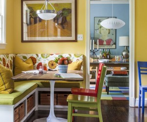Space-Saving Design: 25 Banquettes with Built-in Storage Underneath