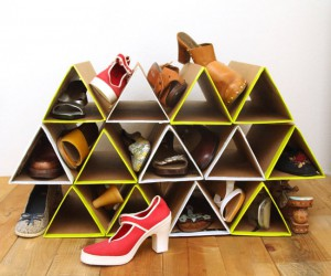 Space Saving DIY Shoe Racks