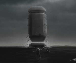 Space, Scale, Composiiton  Atmosphere: Digital Drawing by Nicholas Stathopoulos
