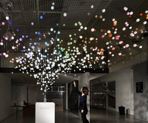 Sparkling Bubbles installation by Emmanuelle Moureaux for Coca-Cola