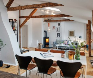Modern & Rustic Meet | Loft Space in Sweden