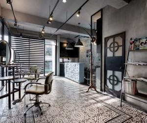 Split-Level Hair Salon & Residential by HAO Design Studio